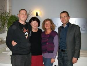 v. l. n. r.:  Martin Lindenhayn - Schriftführer & Verantw. f. Medienarbeit ,  Haldis Lindenhayn - Präsidentin,  Anke Thiel - Vizepräsidentin,  Danny Schill - Schatzmeister